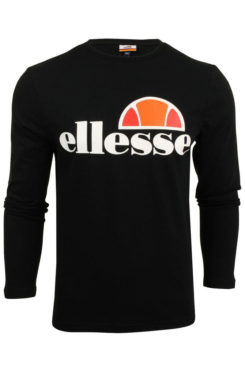 Mens Ellesse Long Sleeved T-Shirt 'Grazie', 01, SHS01765, #colour_Anthracite