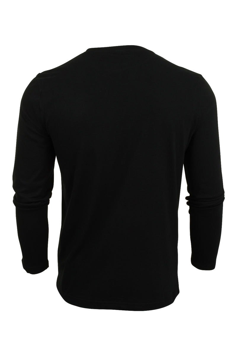 Mens Ellesse Long Sleeved T-Shirt 'Grazie', 02, SHS01765, #colour_Anthracite