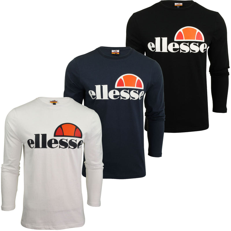 Mens Ellesse Long Sleeved T-Shirt 'Grazie', 01, SHS01765