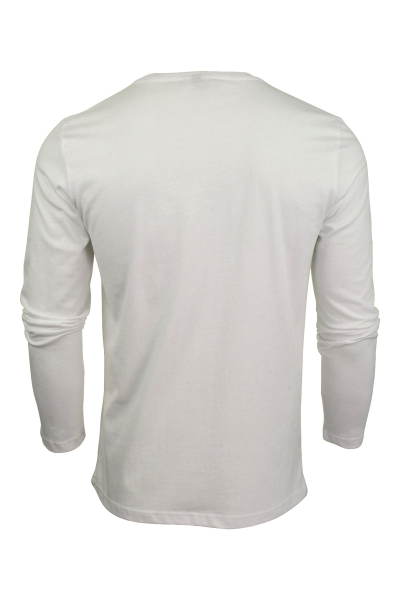 Mens Ellesse Long Sleeved T-Shirt 'Grazie', 02, SHS01765, #colour_Optic White