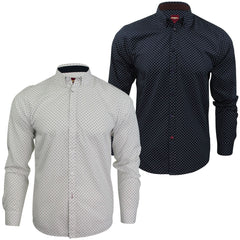 Mens Polka Dot Shirt by Merc London 'Siegel' Long Sleeved-Main Image