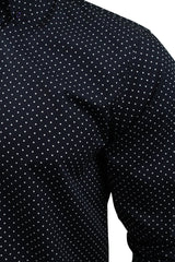 Mens Polka Dot Shirt by Merc London 'Siegel' Long Sleeved-2