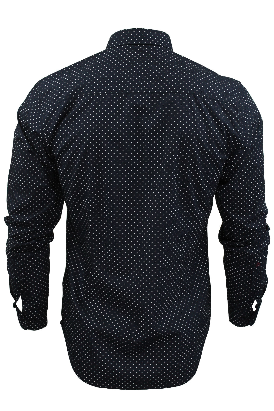 Mens Polka Dot Shirt by Merc London 'Siegel' Long Sleeved-3