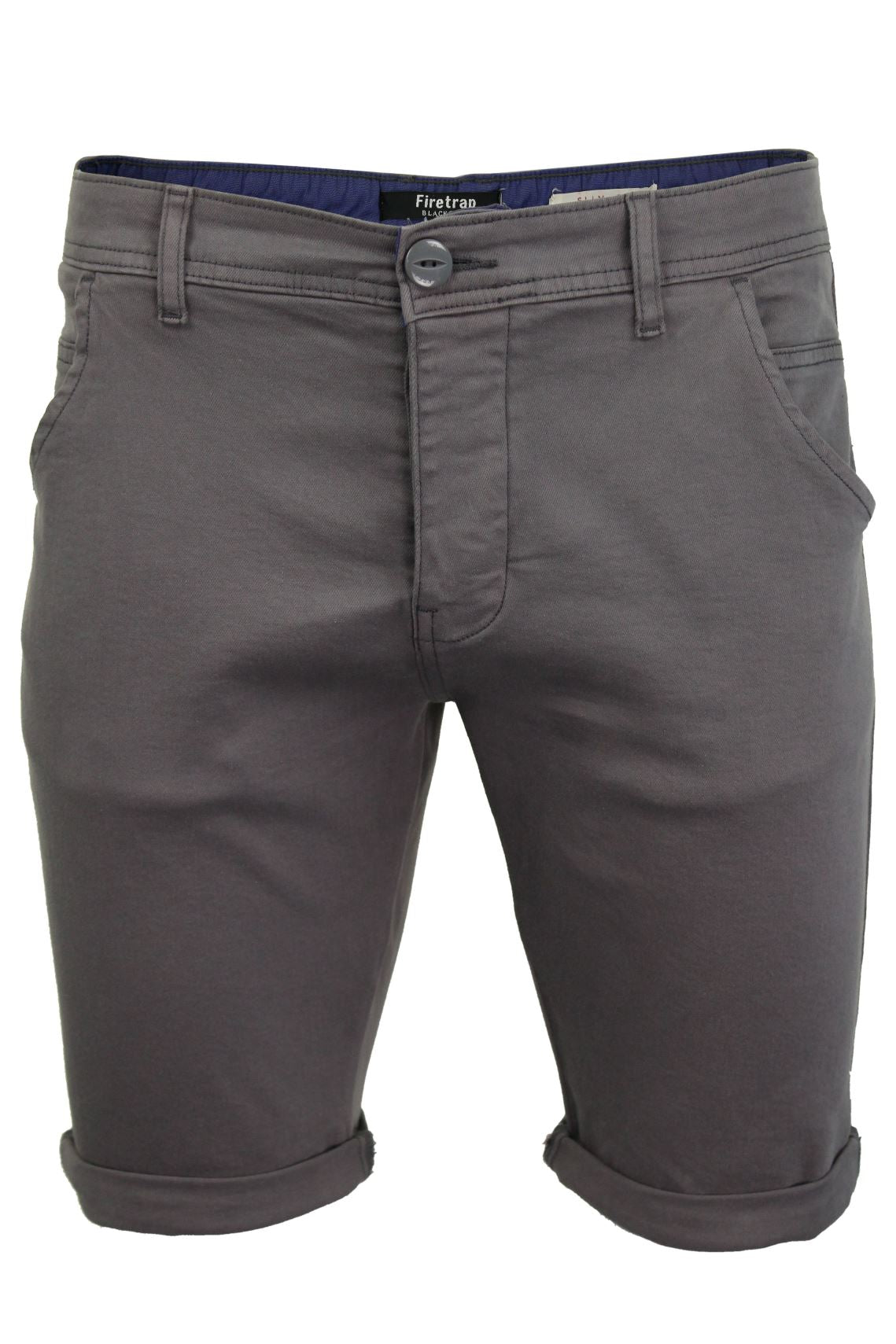 Mens Chino Shorts by Firetrap 'Solvay' Cotton Twill-Main Image