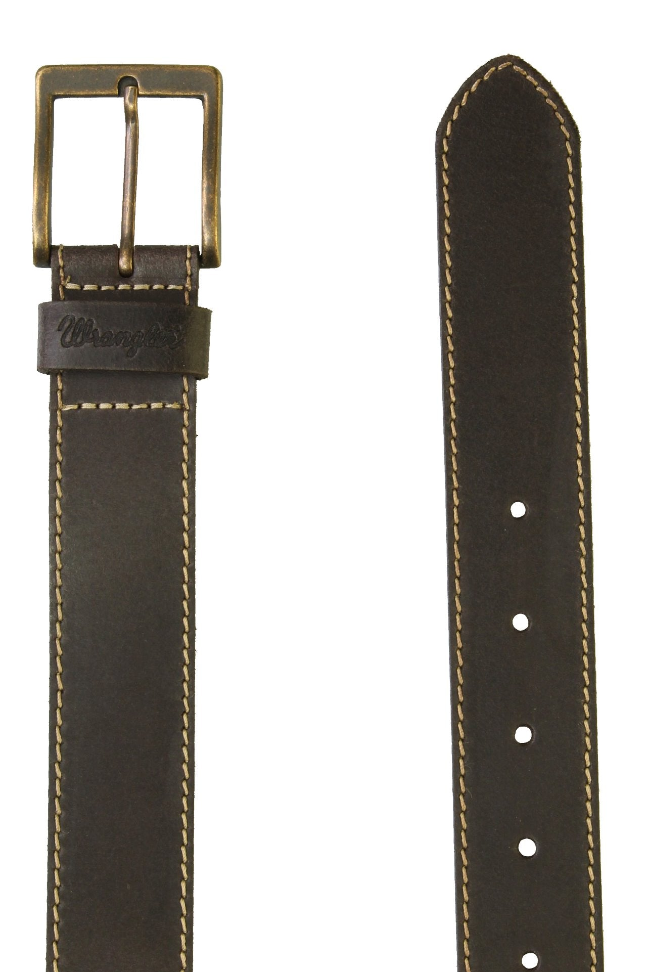 Wrangler Mens 'Stitched' Leather Belt-2