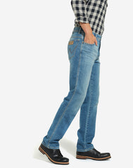 Mens Wrangler 'Texas' Jeans - Denim Stretch - Original Straight Fit-2