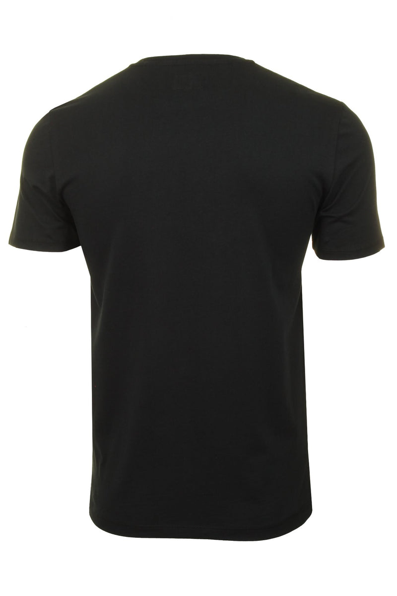Mens Wrangler T-Shirt 'SS LOGO TEE' Short Sleeve, 03, W742FK, #colour_Black