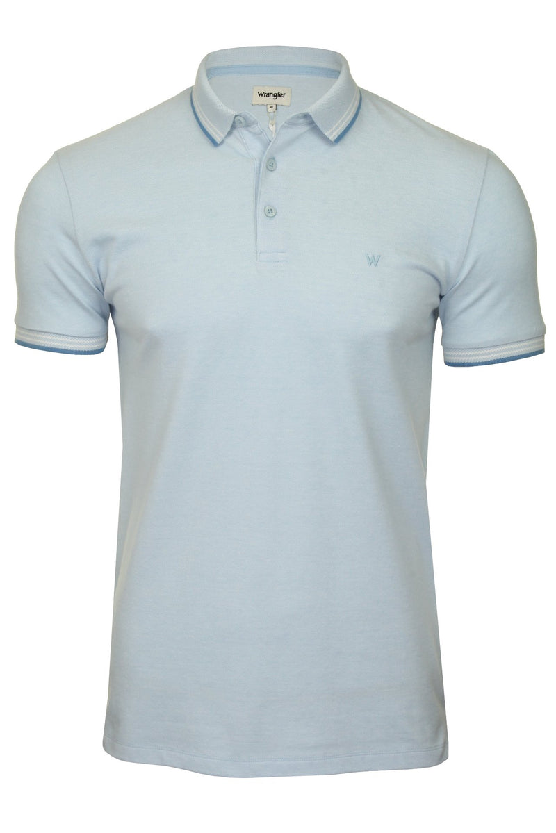 Wrangler Mens Polo Shirt 'SS Refined Polo', 01, W7D6Kh, #colour_Cerulean Blue