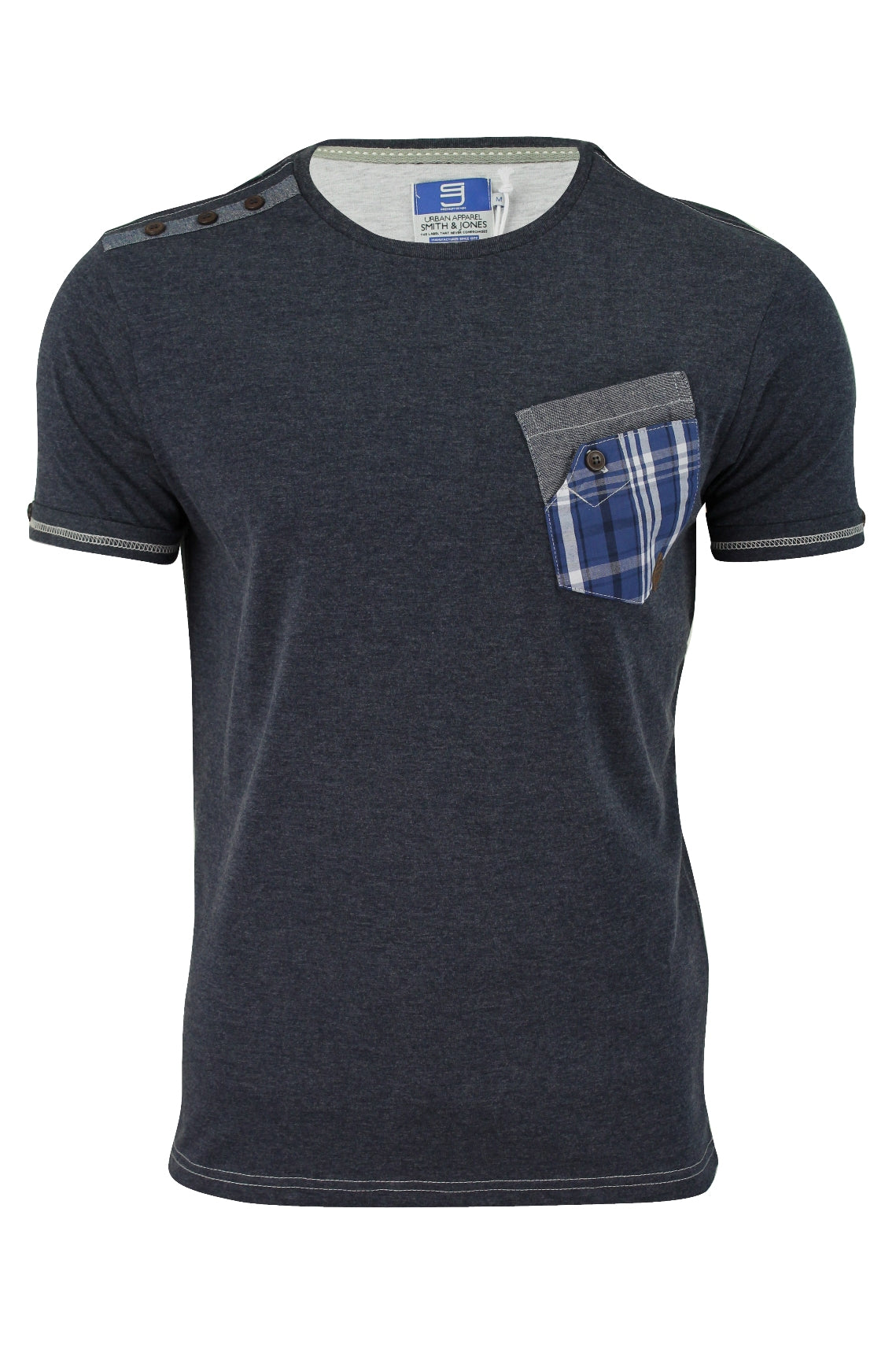 Mens T-Shirt by Smith & Jones 'Wandsworth' Short Sleeved-2
