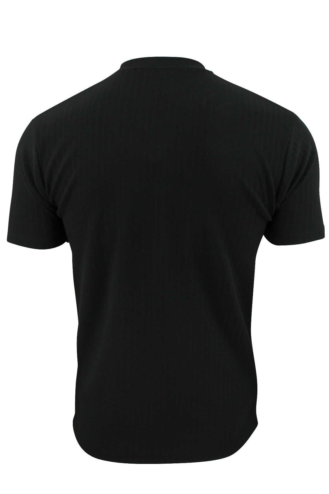 Mens Rib T - Shirt by Xact Clothing Crew Neck Slim Gym Muscle Fit-3