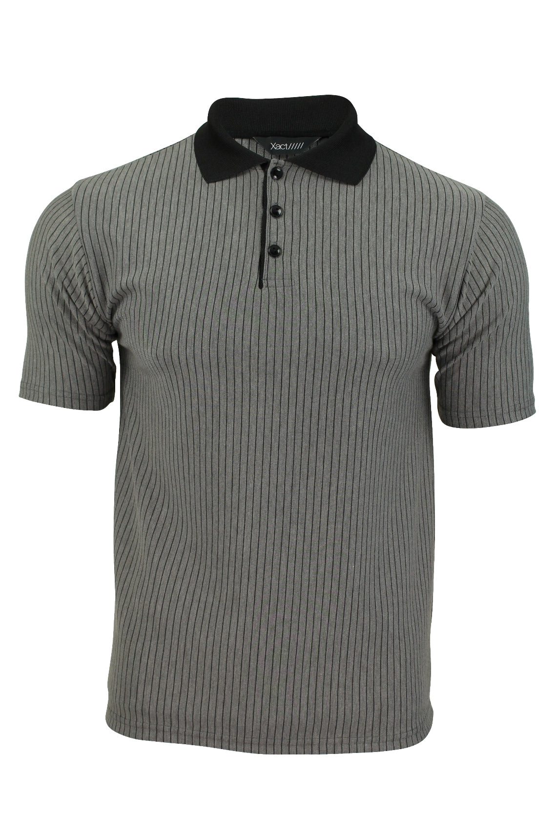 Mens Stripe Polo Shirt by Xact Clothing Short Sleeved-Main Image