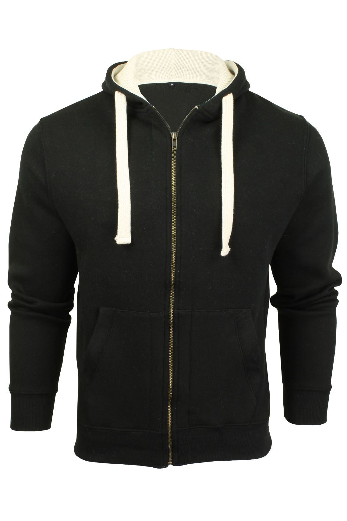 Mens Zip Through Hoodie Sweatshirt by Xact Fleece Back-Main Image