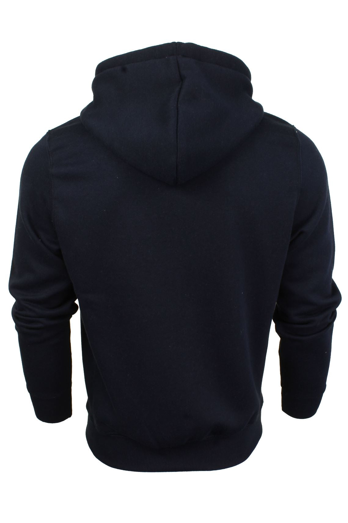 Mens Zip Through Hoodie Sweatshirt by Xact Fleece Back-3
