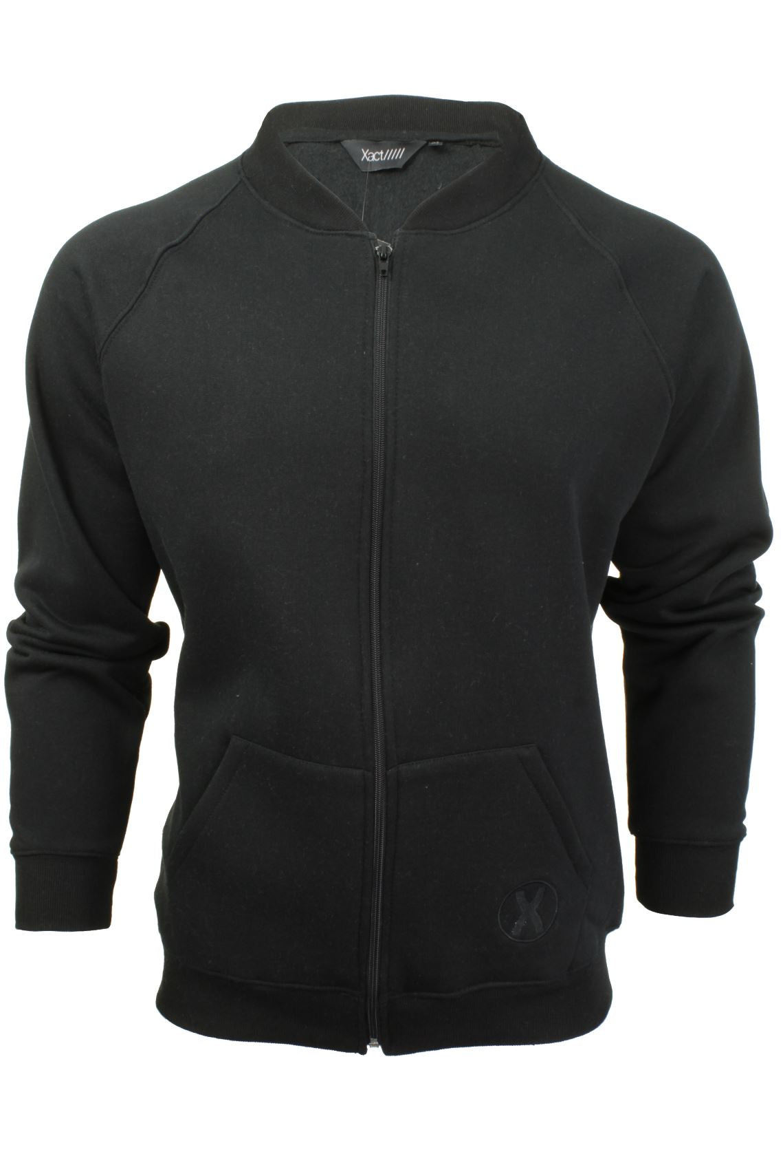 Mens Zip Through Sweatshirt Jumper by Xact Long Sleeved-Main Image