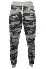 Mens Camouflage Print Joggers/ Gym Running Pants - Skinny Fit - by Xact-Main Image