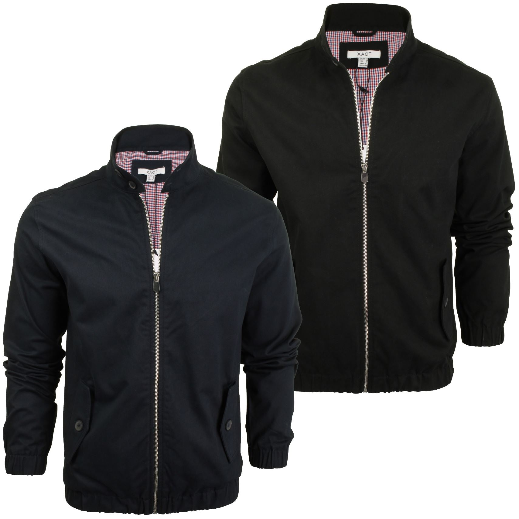 Xact Mens Classic Harrington Jacket Coat MOD-Main Image