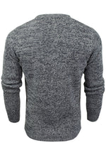 Mens Fashion Jumper Long Sleeved Fleck Crew Neck by Xact, 03, XK1005, #colour_Navy