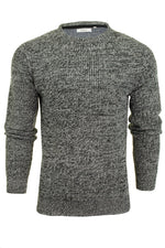 Mens Fashion Jumper Long Sleeved Fleck Crew Neck by Xact, 01, XK1005, #colour_Black