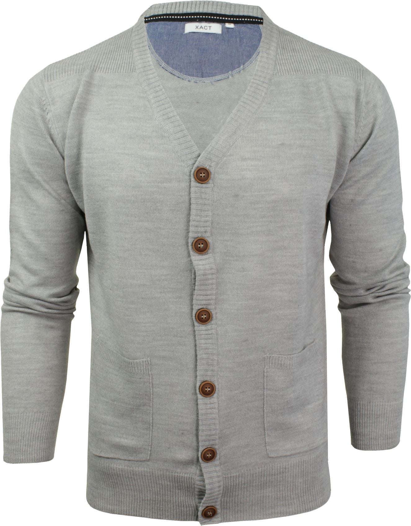 Mens Cardigan Button Front Fashion Jumper by Xact-Main Image