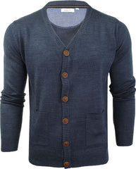 Mens Cardigan Button Front Fashion Jumper by Xact-2