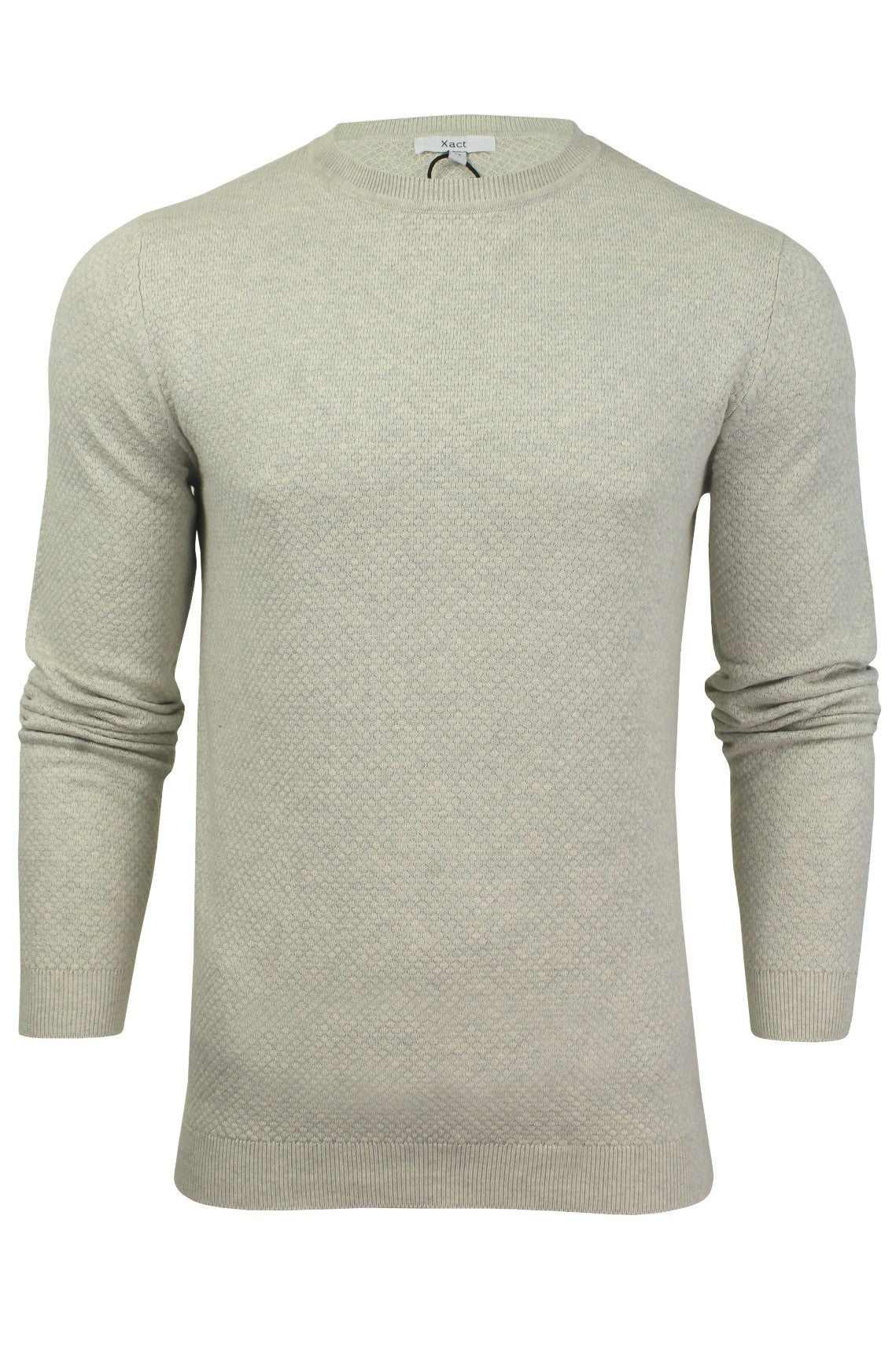 Xact Mens Crew Neck Cotton Jumper_01_XK1013_Birch Marl