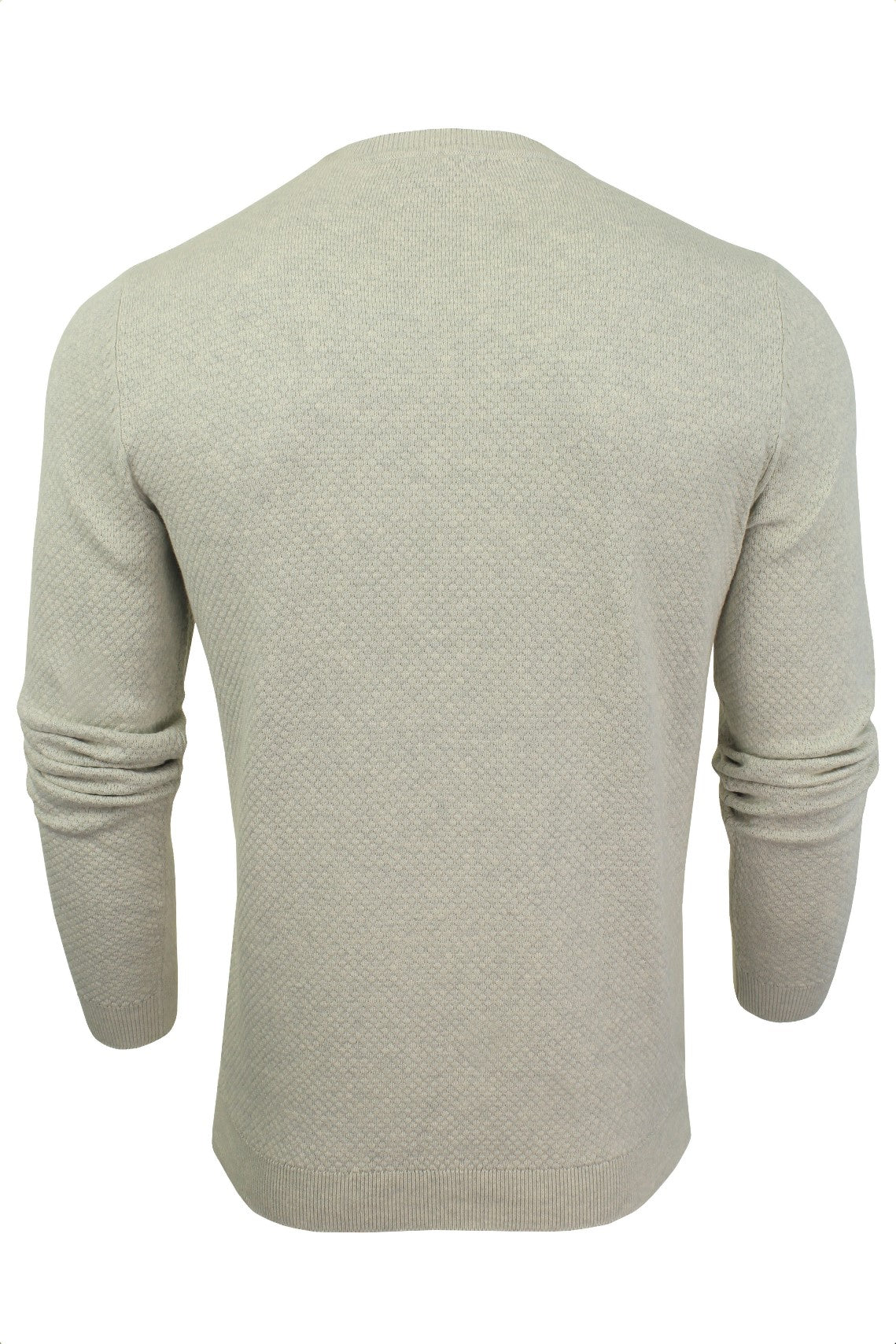 Xact Mens Crew Neck Cotton Jumper_03_XK1013_Birch Marl