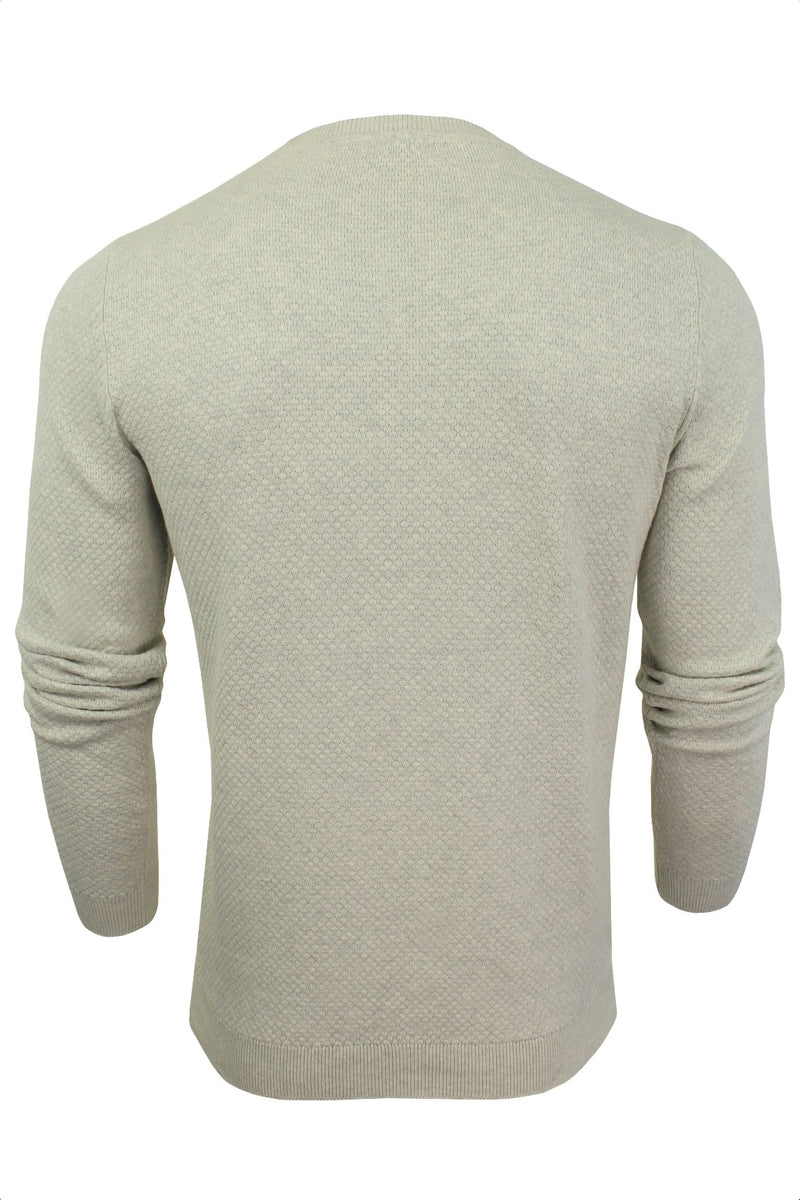 Xact Mens Super Fine Cotton Crew Neck Jumper, 03, XK1013, #colour_Birch Marl