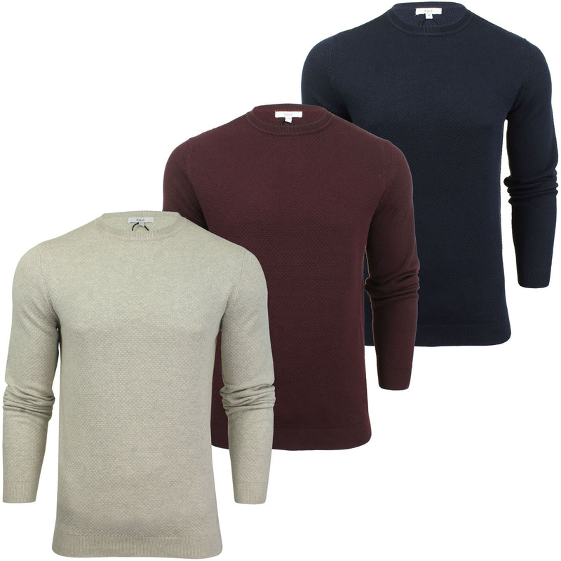Xact Mens Super Fine Cotton Crew Neck Jumper, 01, XK1013