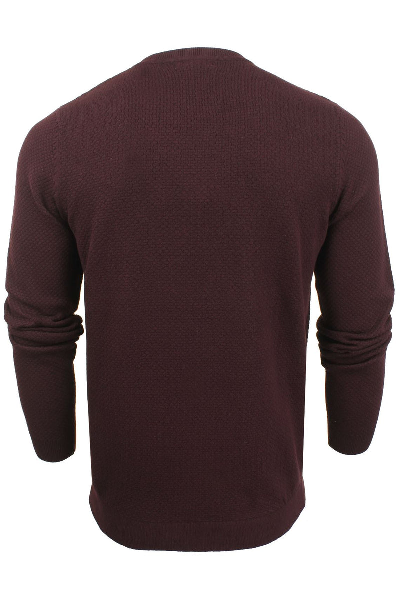 Xact Mens Super Fine Cotton Crew Neck Jumper, 03, XK1013, #colour_Merlot