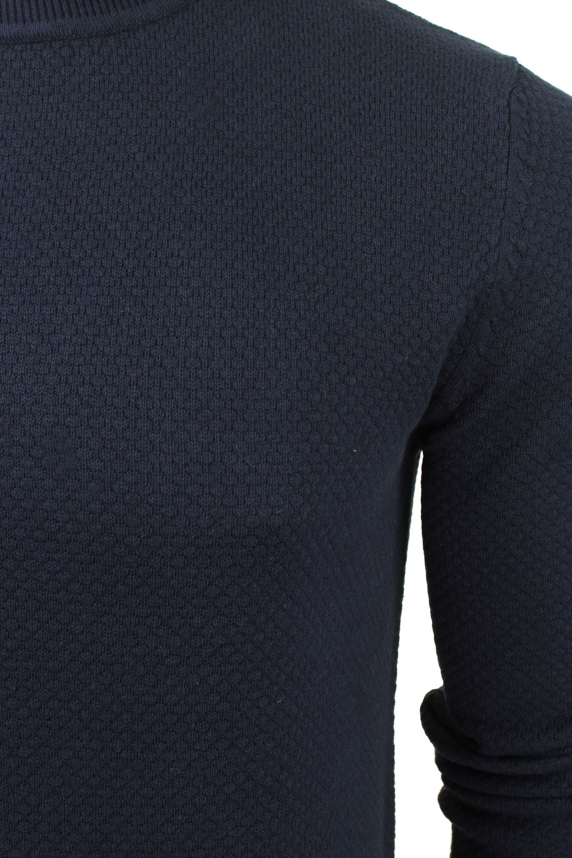 Xact Mens Crew Neck Cotton Jumper_02_XK1013_Rich Navy