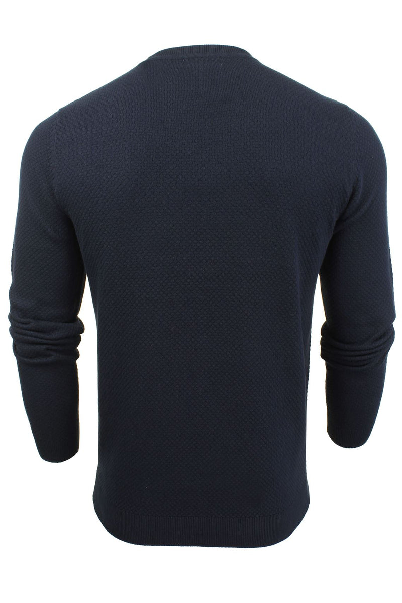 Xact Mens Super Fine Cotton Crew Neck Jumper, 03, XK1013, #colour_Rich Navy