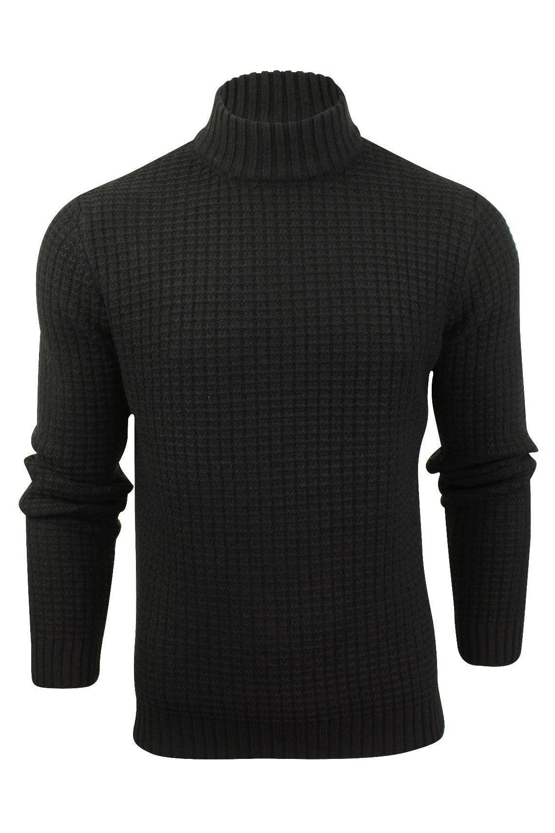 Mens Wool Blend Jumper Turtle Neck  by Xact-Main Image