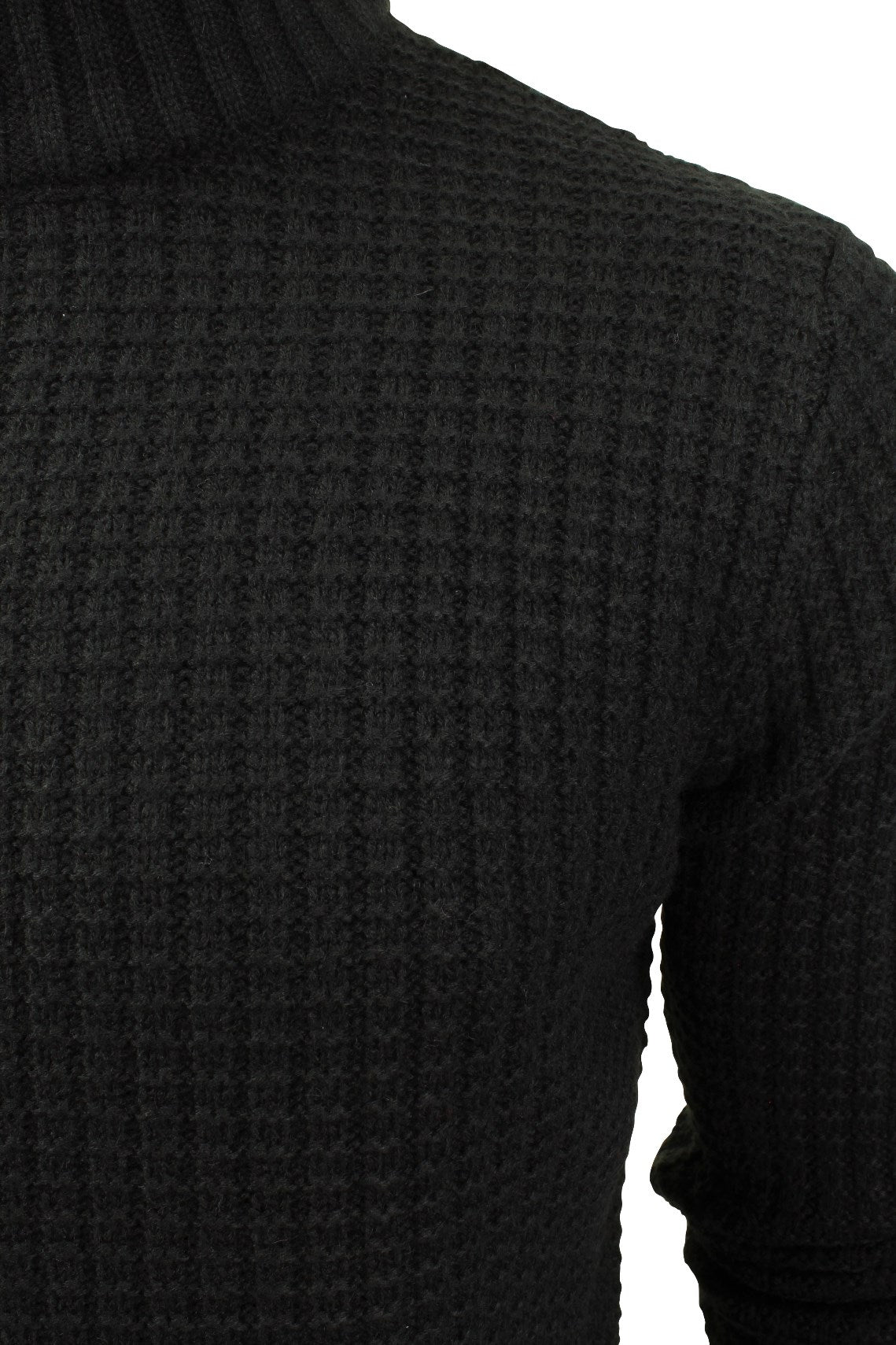 Mens Wool Blend Jumper Turtle Neck  by Xact-2