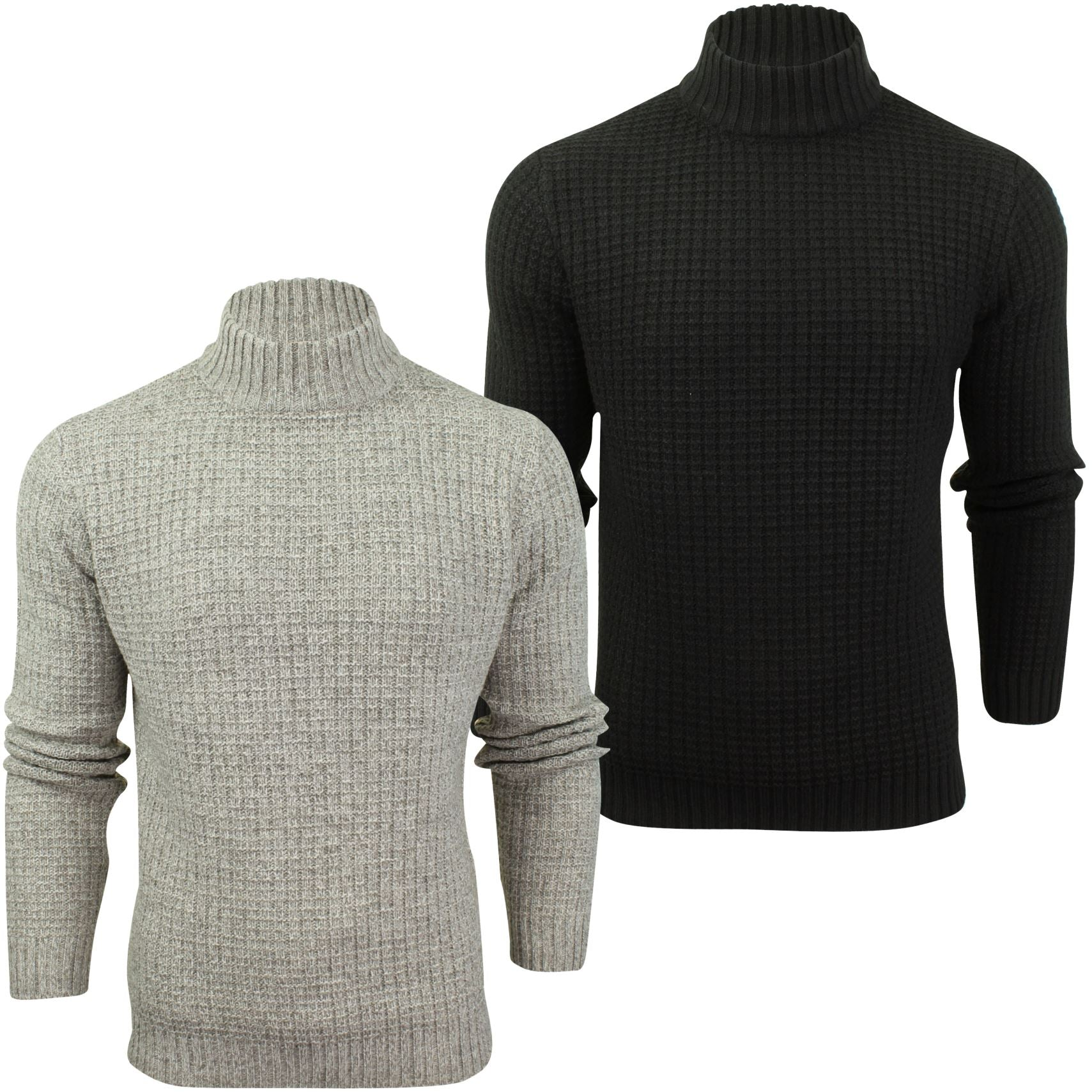 Mens Wool Blend Jumper Turtle Neck  by Xact_01_XK1017