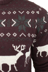 Mens Christmas Jumper Xmas / Reindeer Stag by Xact-2