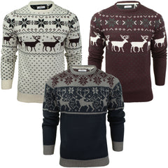Mens Christmas Jumper Xmas / Reindeer Stag by Xact-Main Image