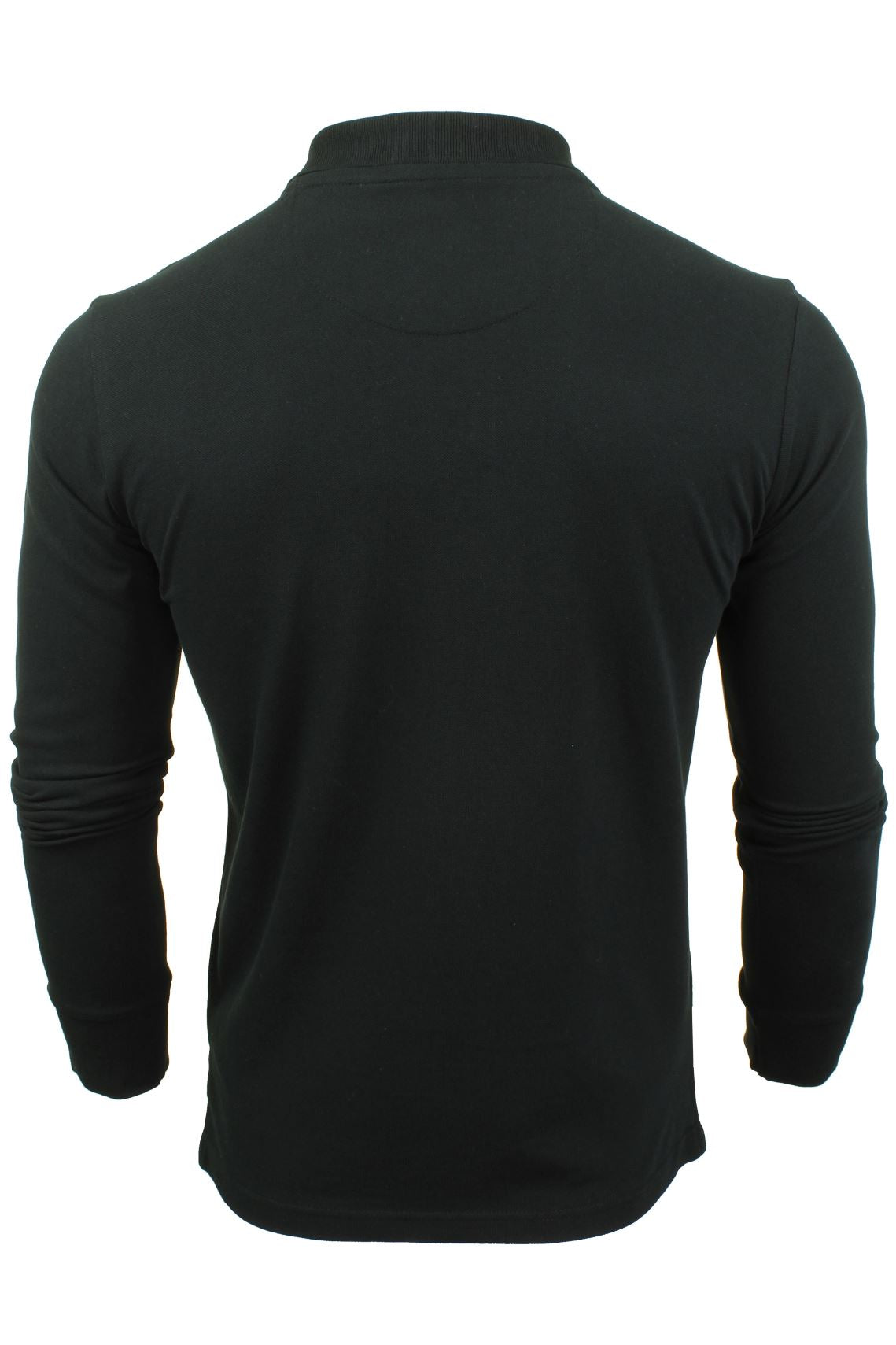 Mens Polo T-Shirt by Xact Pique Long Sleeved_03_XP1003_Black