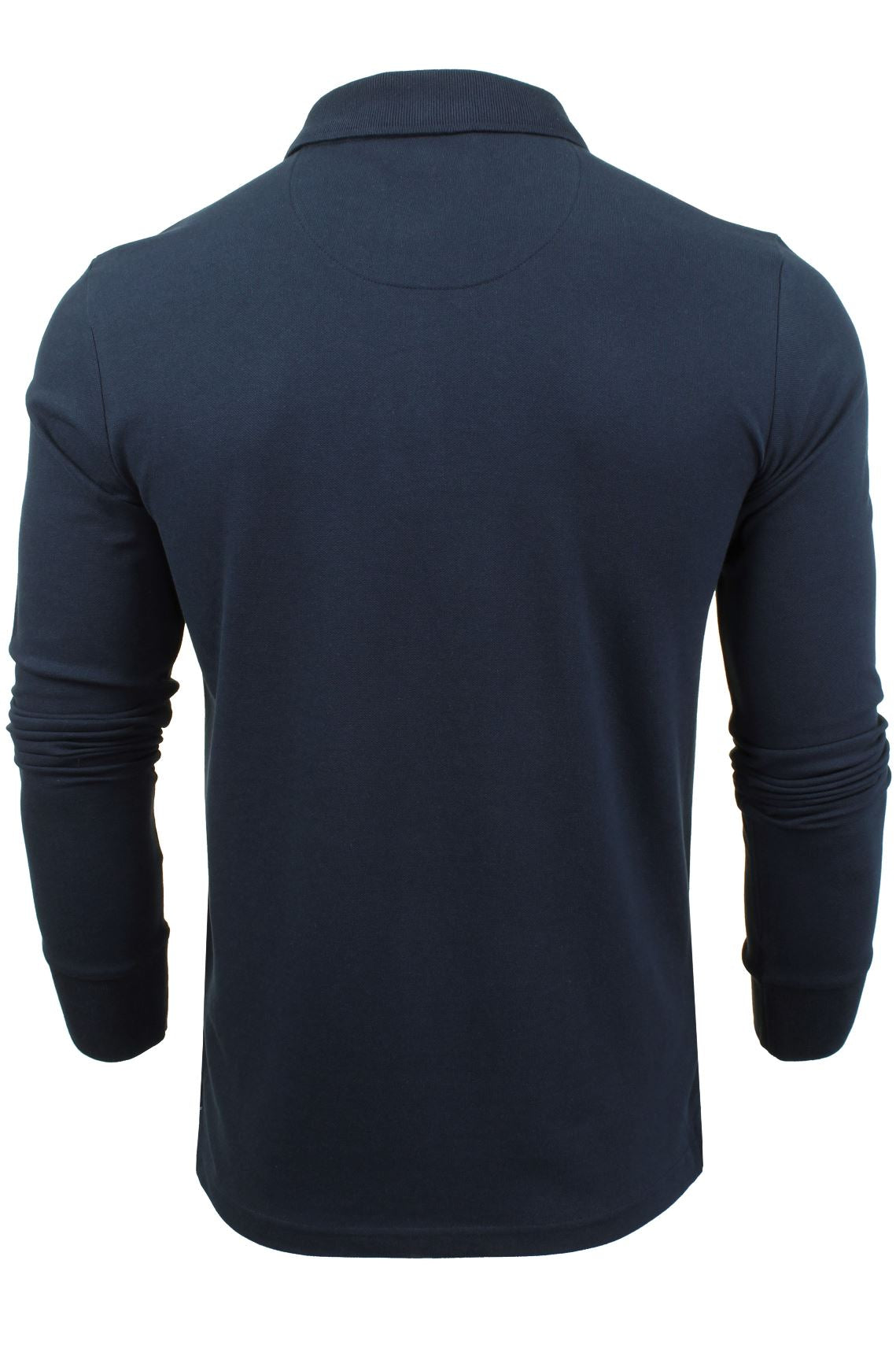 Mens Polo T-Shirt by Xact Pique Long Sleeved_03_XP1003_Ocean Blue