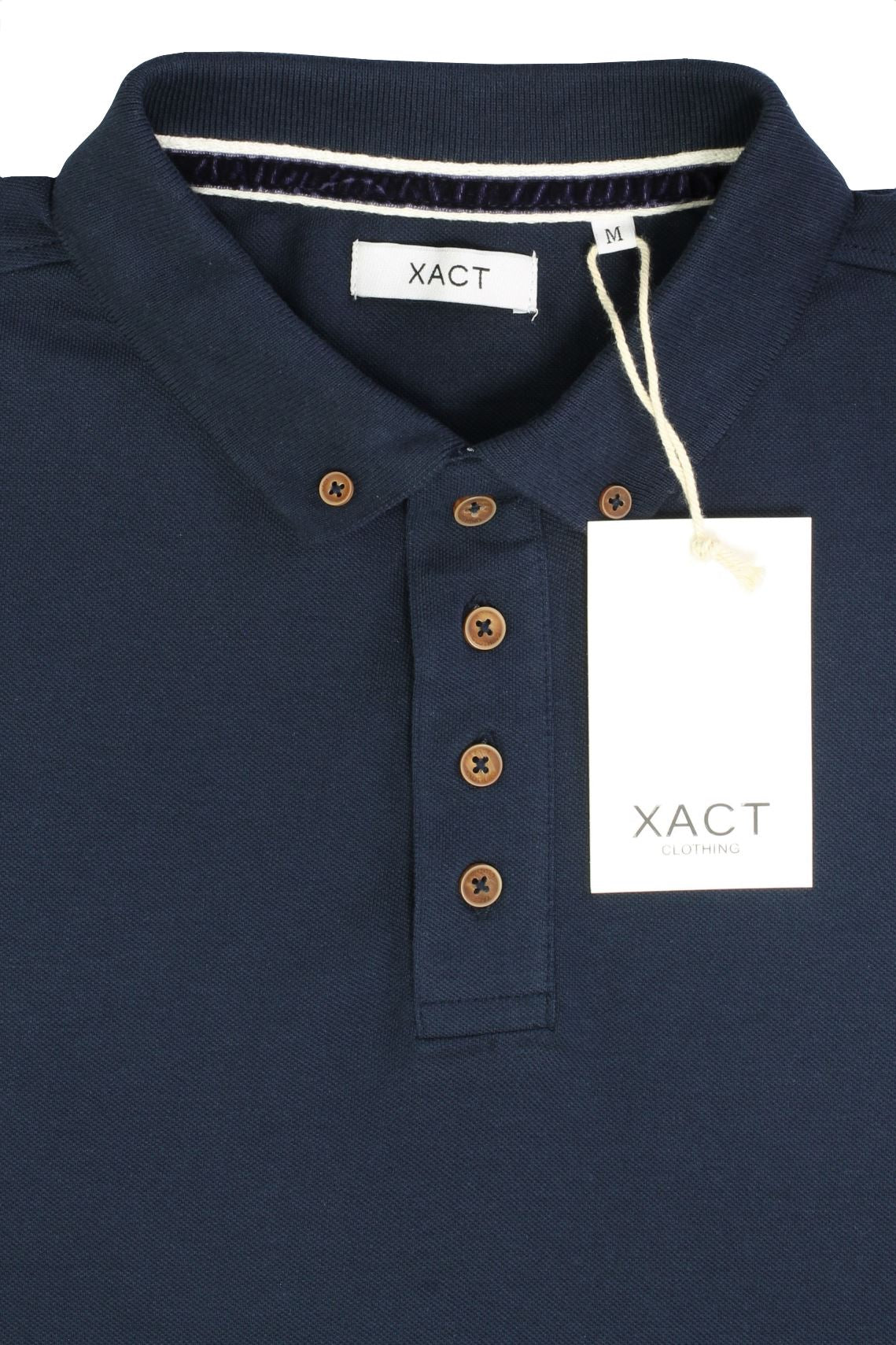 Mens Polo T-Shirt by Xact Pique Long Sleeved_04_XP1003_Ocean Blue