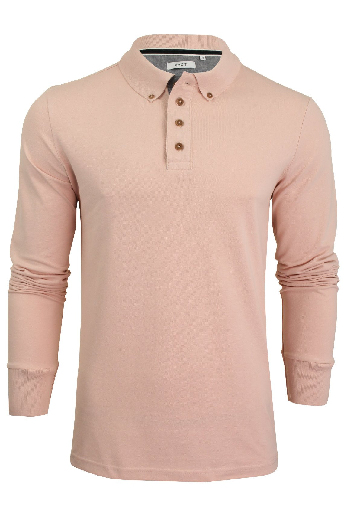 Mens Polo T-Shirt by Xact Pique Long Sleeved_01_XP1003_Summer Pink