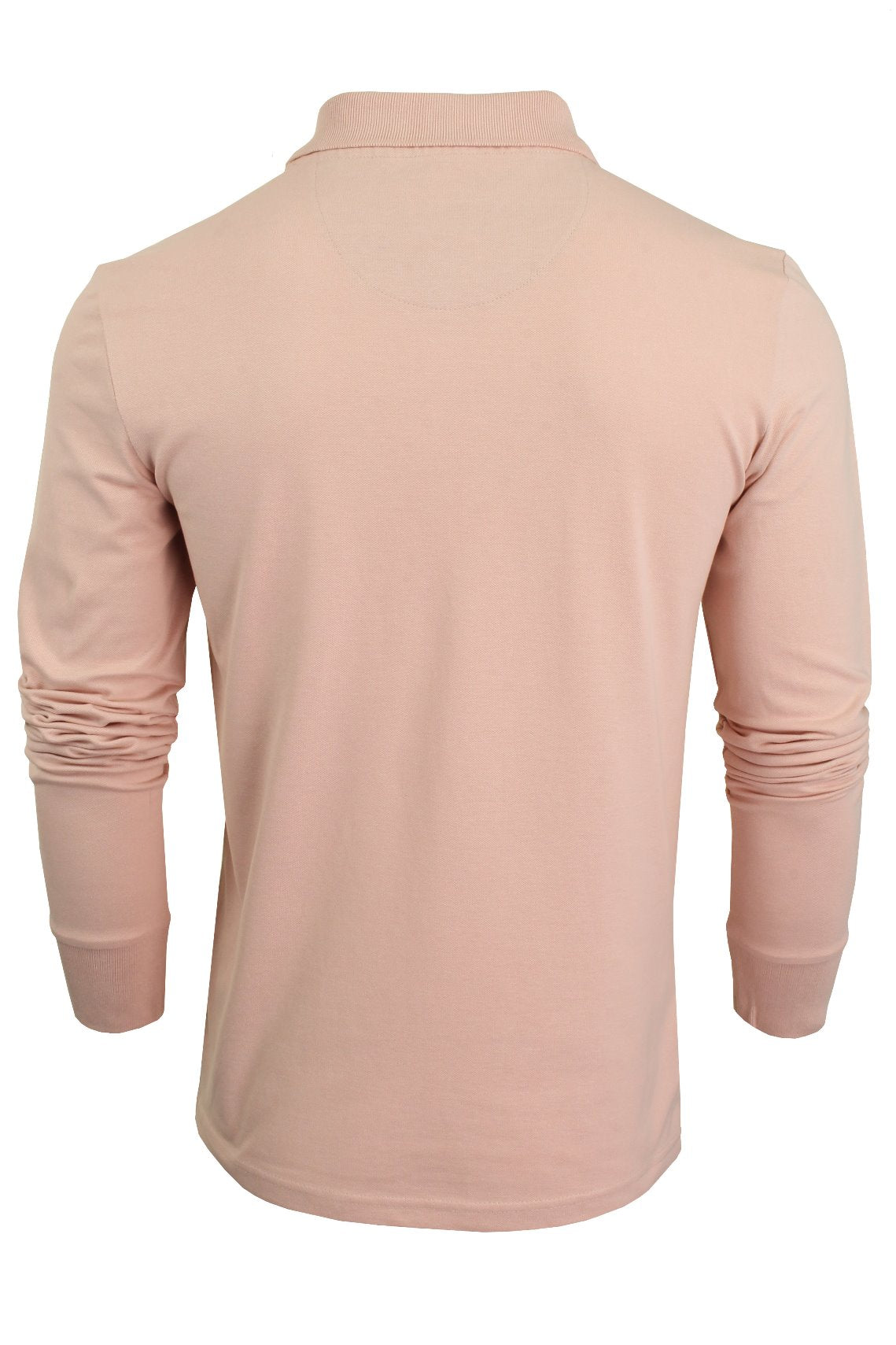 Mens Polo T-Shirt by Xact Pique Long Sleeved_03_XP1003_Summer Pink
