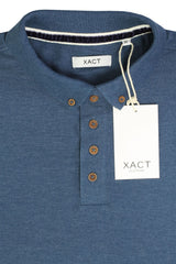 Mens Polo T-Shirt by Xact Pique Long Sleeved_04_XP1003_Vintage Blue
