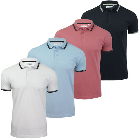 Mens Short Sleeved Twin Tipped Pique Polo T-Shirt by Xact-Main Image
