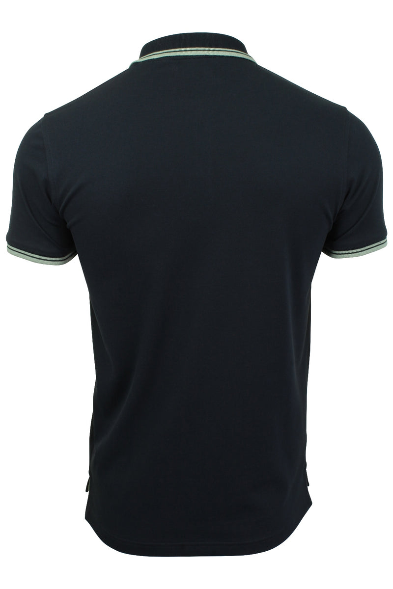 Xact Mens Beach Polo Short Sleeved  With Tipped collar, 03, Xp1024, #colour_Navy