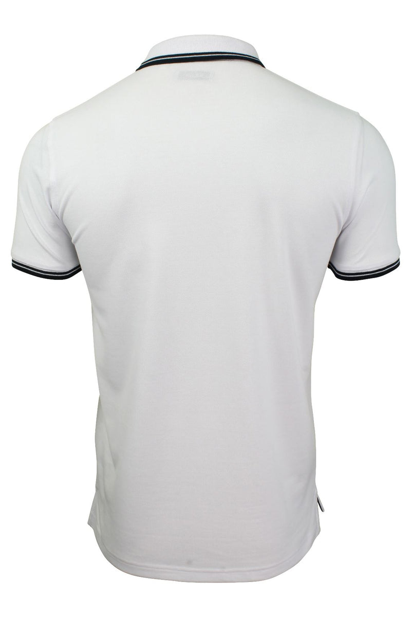 Xact Mens Beach Polo Short Sleeved  With Tipped collar, 03, Xp1024, #colour_Optic White