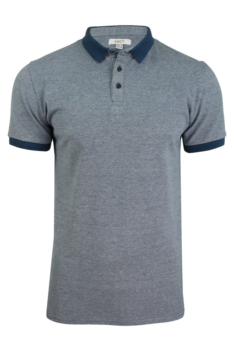 Xact Men's Polo T-Shirt Short Sleeved Cotton Pique, 01, Xp1036, #colour_Ocean Blue