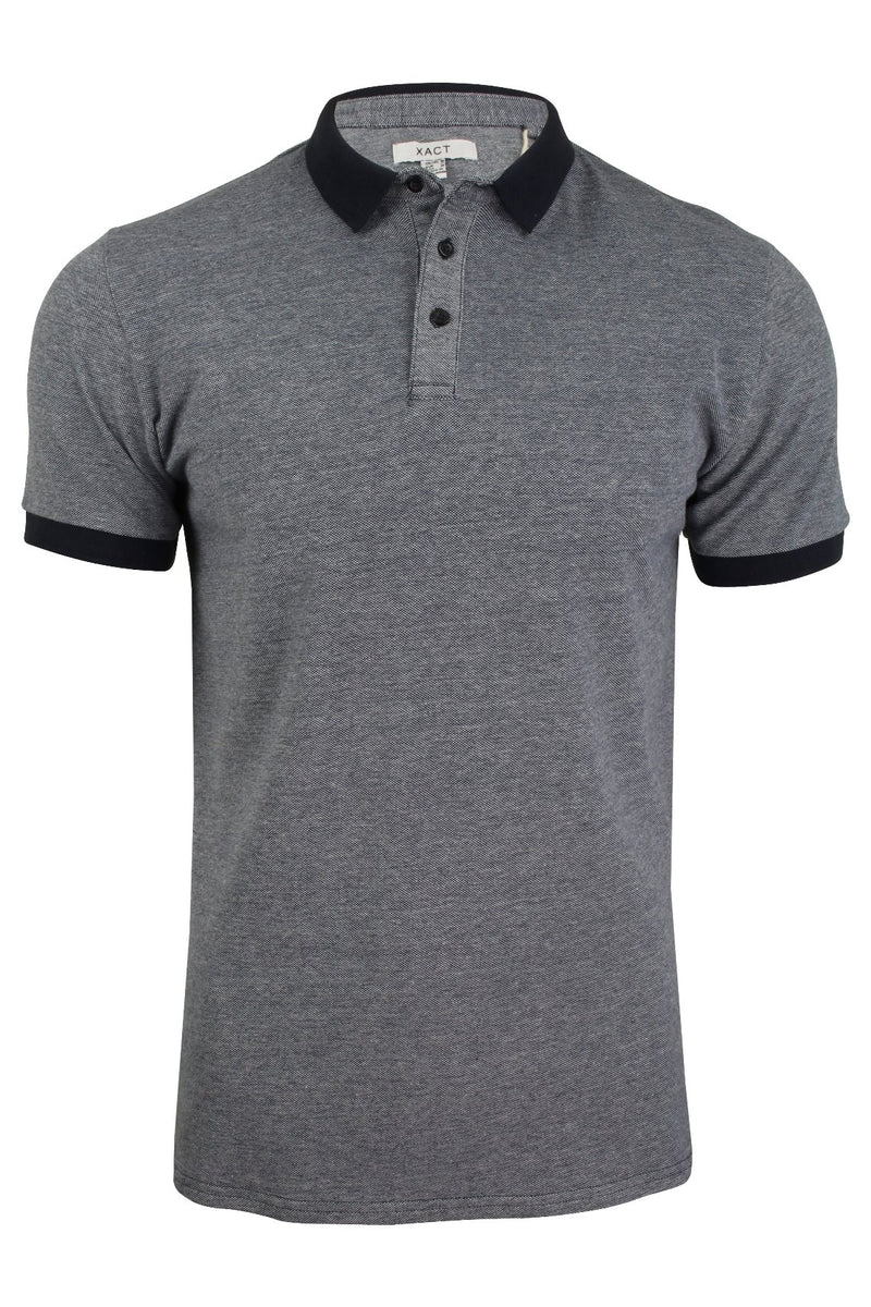 Xact Men's Polo T-Shirt Short Sleeved Cotton Pique, 01, Xp1036, #colour_Navy