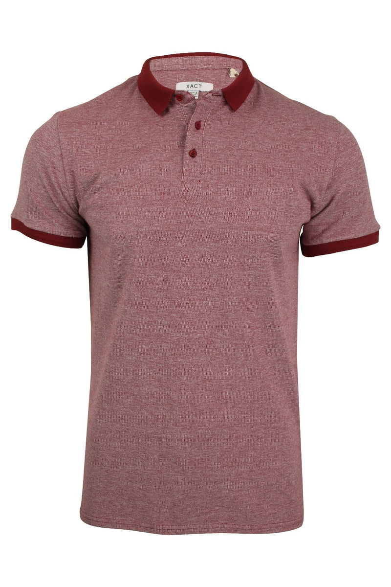 Xact Men's Polo T-Shirt Short Sleeved Cotton Pique, 01, Xp1036, #colour_Rich Red