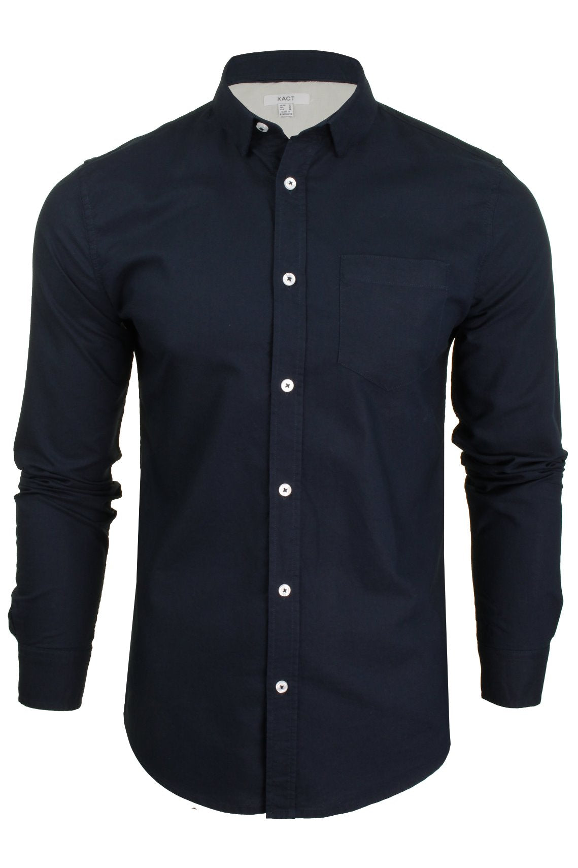 Xact  Long Sleeved Oxford Shirt-Main Image