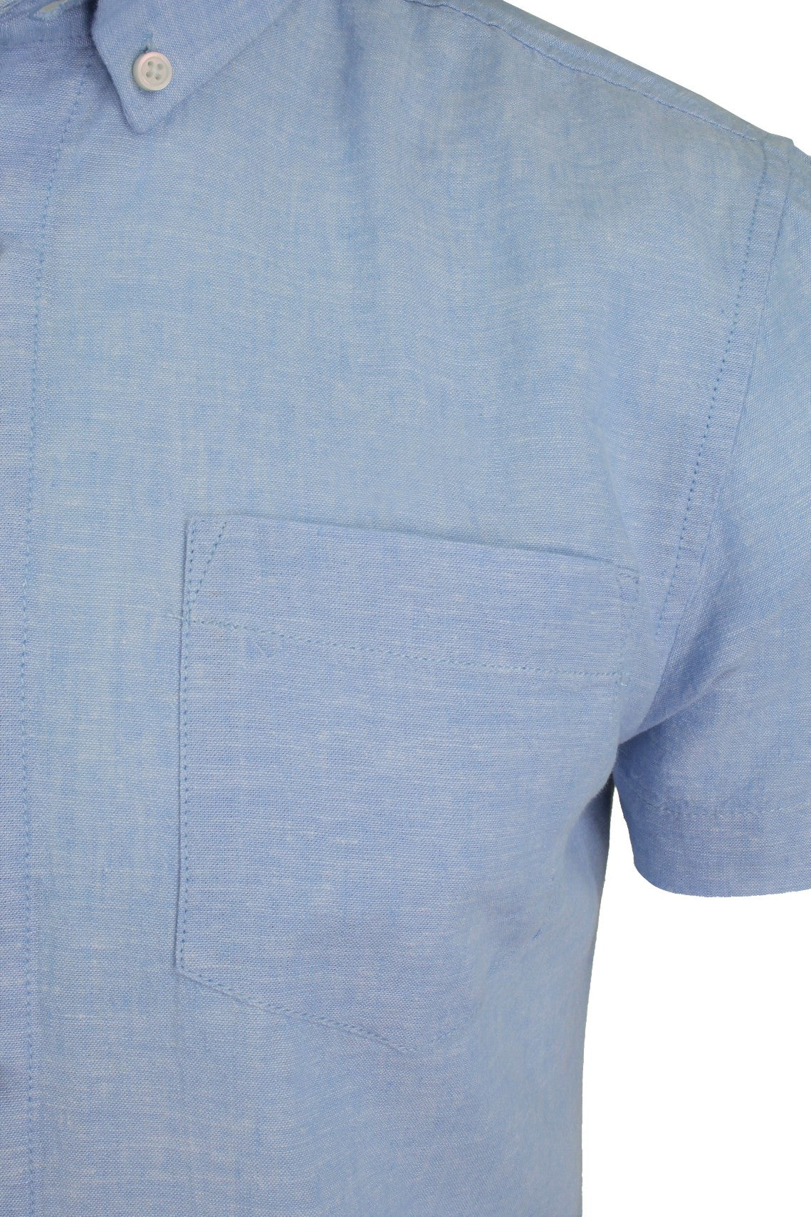 Xact Short Sleeved Linen Mix Shirt-2